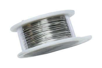 22 Gauge Craft Wire 8 Yards - Brushed Silver