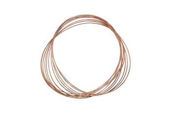 Oval Bracelet Size Memory Wire - Copper Plated