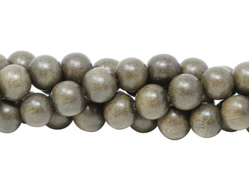 Grey Wood Polished 10mm Round