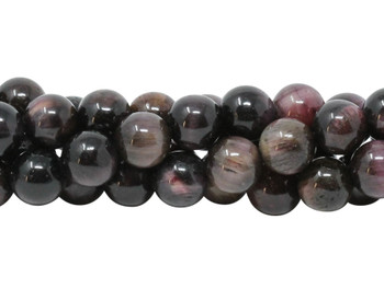 Tiger Eye Maroon and Pink Dyed Polished 8mm Round