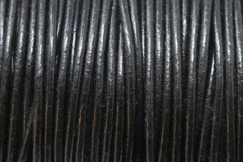 Black 2mm Leather Cord - Sold by the Foot