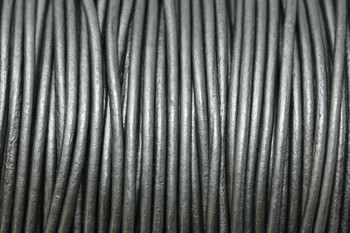 Grey 1.5mm Leather Cord - Sold by the Foot