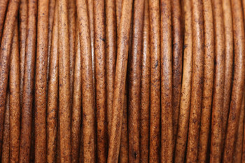 Natural Light Brown 2mm Leather Cord - Sold by the Foot