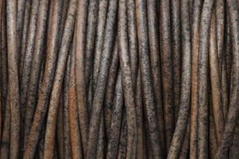 Natural Grey 2mm Leather Cord - Sold by the Foot