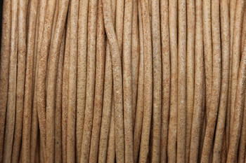 Natural 1.5mm Leather Cord - Sold by the Foot