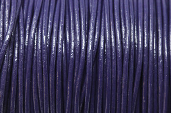 Violet 1.5mm Leather Cord - Sold by the Foot