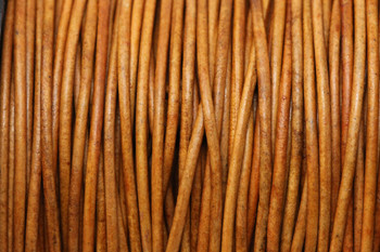 Natural Light Brown 1.5mm Leather Cord - Sold by the Foot