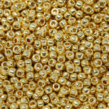 Size 11 Toho Seed Beads -- P471 Galvanized Gold