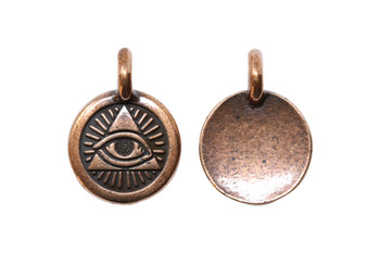 Eye of Providence Charm - Copper Plated