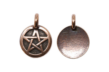 Pentagram Charm - Copper Plated