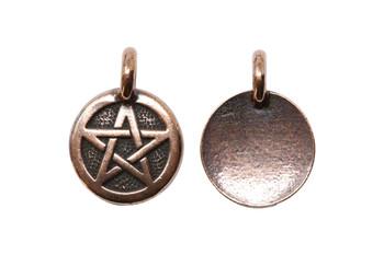 Pentagram Charm - Copper Plated