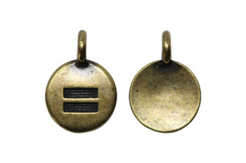 Equality Charm - Brass Plated