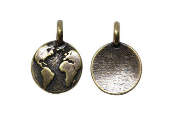 Earth Charm - Brass Plated