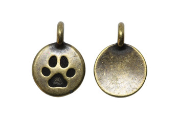 Paw Charm - Brass Plated