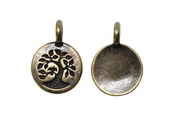 Tree Charm - Brass Plated