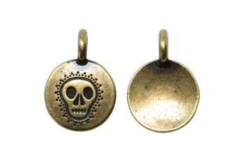 Skull Charm - Brass Plated