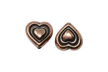 Heart Bead - Copper Plated