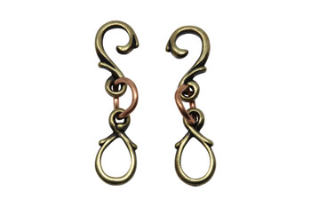 Vine Hook & Eye - Brass Plated