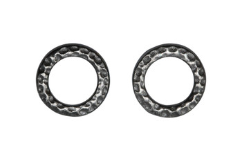 Small Hammertone Ring - Black Plated