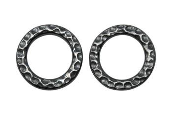 Medium Hammertone Ring - Black Plated