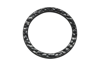 Hammertone 1-inch Ring - Black Plated