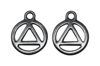 Recovery Symbol Charm - Black Plated