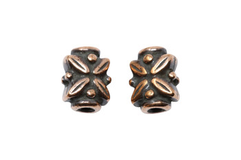 Leaf Bead - Copper Plated