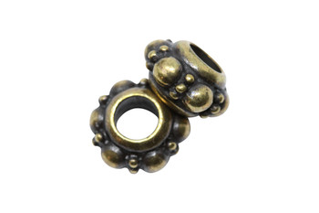 Turkish Euro Bead  - Brass Plated