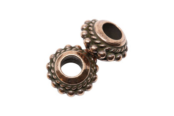 Beaded Twist Euro Bead  - Copper Plated