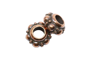 Turkish Euro Bead  - Copper Plated