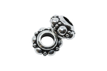Turkish Euro Bead  - Silver Plated