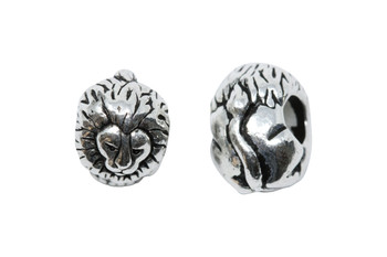 Lion Euro Bead - Silver Plated