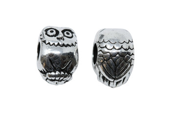 Owl Euro Bead - Silver Plated