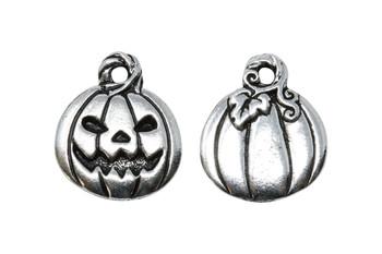 Jack O'Lantern Charm - Silver Plated