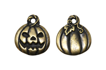Jack O'Lantern Charm - Brass Plated