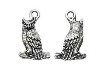Owl Charm - Silver Plated
