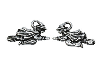 Witch Charm - Silver Plated