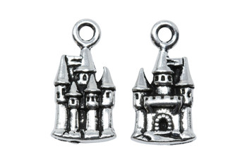 Castle Charm - Silver Plated