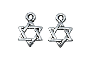 Star of David Charm - Silver Plated