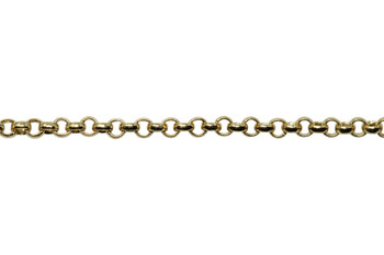 Gold 1mm Elegant Baby Rolo Chain - Sold By 6 inches