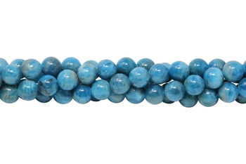 Apatite Polished 8mm Round - Ocean Blue