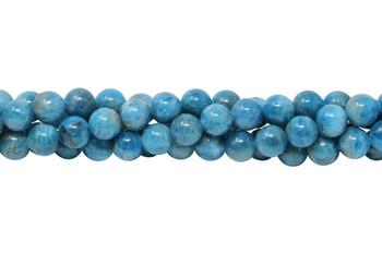 Apatite Polished 8mm Round - Ocean Blue