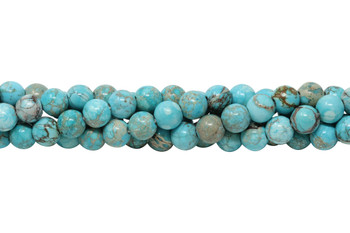 Aqua Terra Jasper Polished 8mm Round - Large Hole