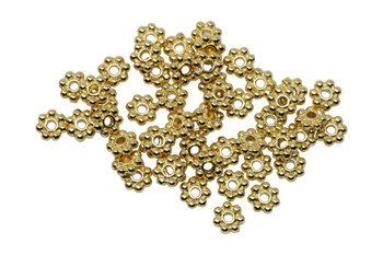 Bright Gold Plated 4mm Daisy - 50 Pieces