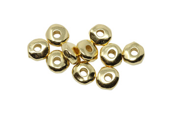 Gold Plated 5mm Nugget - 10 Pieces