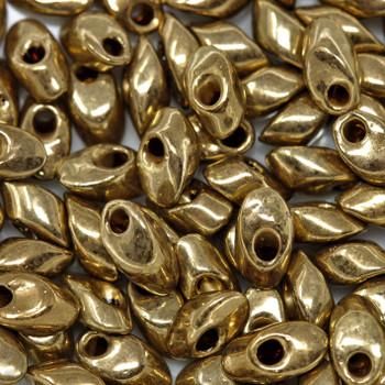 4x7mm Long Magatamas -- 457 Metallic Light Bronze