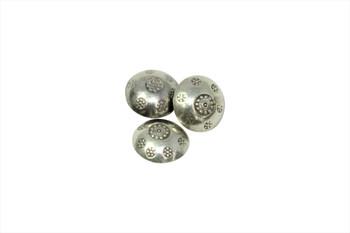 Sterling Silver 12mm Floral Button