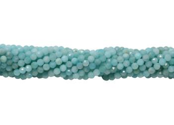 Amazonite Polished 2mm Faceted Round - Turquoise