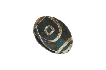 Tibetan Style Agate Polished 40x30mm Oval
