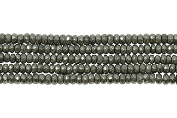 Pyrite Polished 2x4mm Faceted Rondel